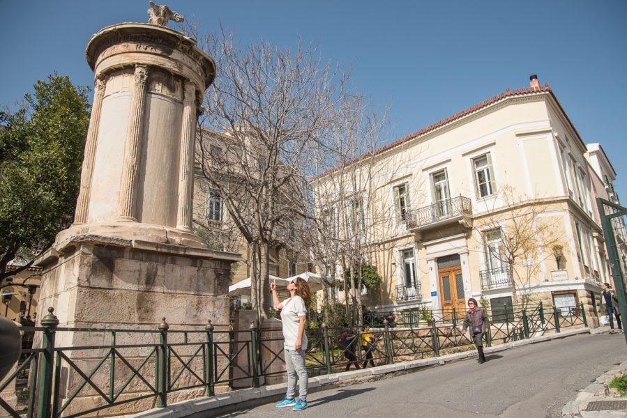 Athens Walking Tours Plaka Lysicrates Choragic Monument Acropolis Athens Voice Guides
